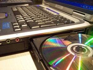 Laptop and CD
