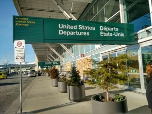 United States Departures Sign